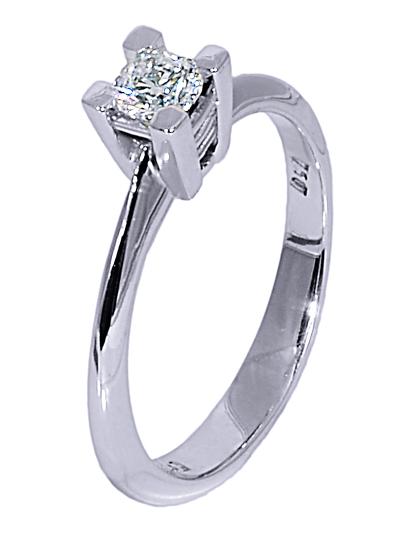 Μονόπετρο δαχτυλίδι 18Κ με διαμάντι 018761  e92efb730c4