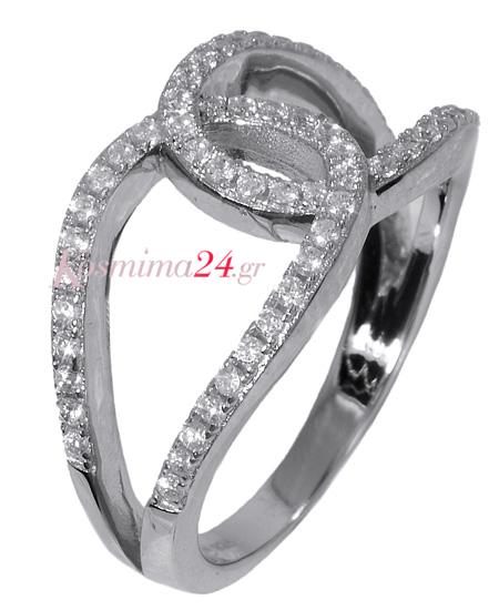 Γυναικείο ασημένιο δαχτυλίδι 017637  54327d13033
