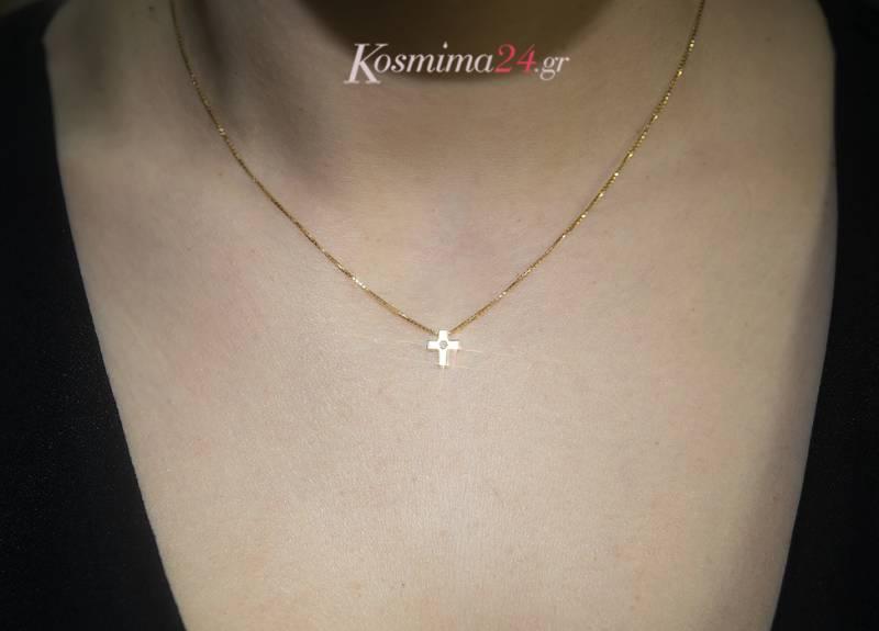 Χρυσός σταυρός Κ18 019574  3cf5128d39c