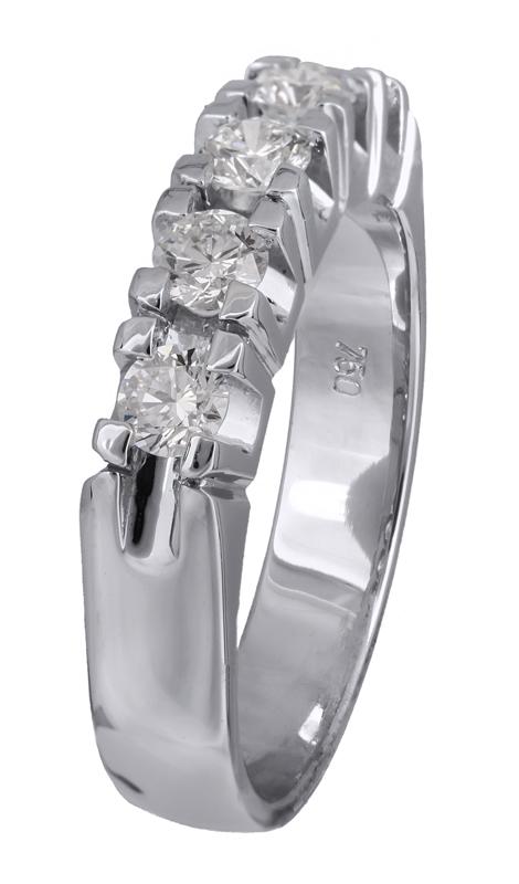 Λευκόχρυσο σειρέ δαχτυλίδι 18Κ με διαμάντια Κ18 021399  7174deec6e2