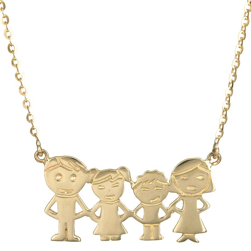 Χρυσό κολιέ οικογένεια Κ14 021450  dc905790edc