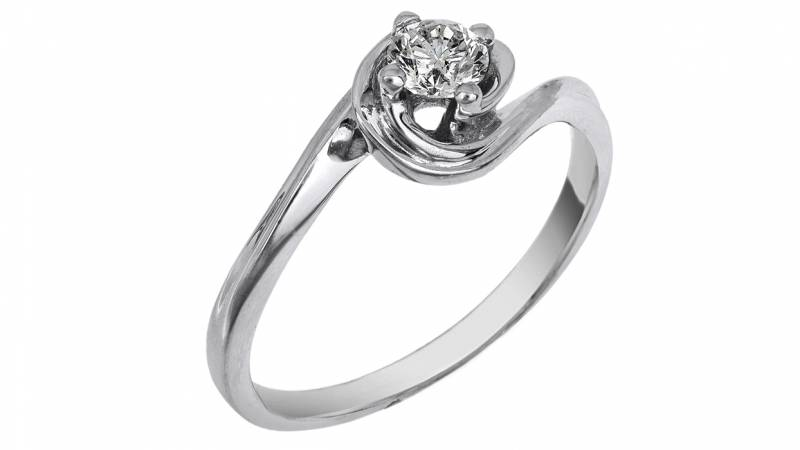 Μονόπετρο 18 καρατίων με διαμάντι κοπής μπριγιάν  0cb1c545b52