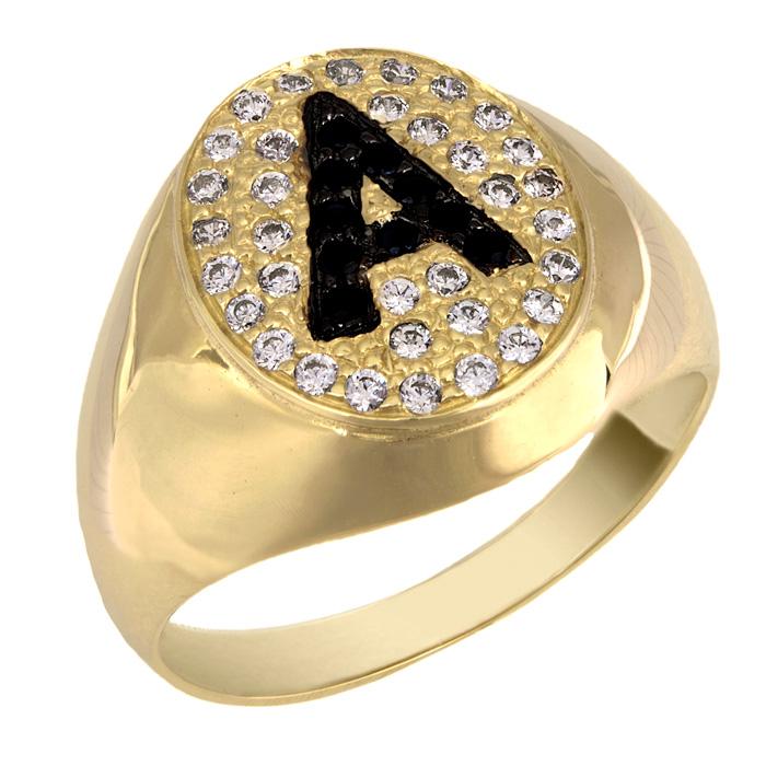 Χρυσό σεβαλιέ με μονόγραμμα Α Κ14 025448  2183f65d3ae
