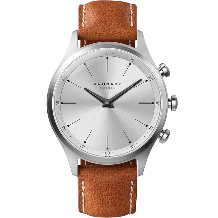 Kronaby Sweden connected Sekel Leather strap A1000-3125