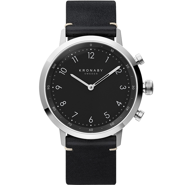 Kronaby Sweden connected Nord Black Leather strap A1000-3126