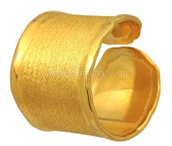 Δαχτυλίδι Σεβαλιέ ασημένιο επίχρυσο 925  432bd745ff9