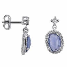 Λευκόχρυσα σκουλαρίκια με ζαφείρια και διαμάντια 027521 bd883e98ddf