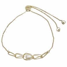 Χρυσό βραχιόλι Κ14 με μαργαριτάρι 031285 34fcebe23e5
