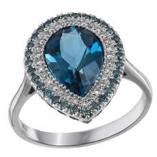 Δαχτυλίδι ροζέτα δάκρυ Κ18 031444 376bc542cd6