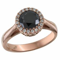 Ροζέτα δαχτυλίδι με μαύρο διαμάντι Κ18 031448 4cfabe9ec89