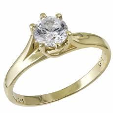 σε χρυσό χρώμα Μονόπετρα δαχτυλίδια - Μονόπετρα - Μονόπετρο ... 80a3429e465