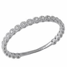 Λευκόχρυσο σειρέ δαχτυλίδι Κ14 με ζιργκόν πέτρες 031797 6c1320130c4