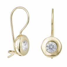 Γυναικεία σκουλαρίκια Κ14 χρυσά με ζιργκόν πέτρα 031863 885d844cd9d