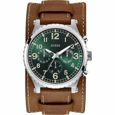 bc250b652f Ρολόι Guess αντρικό με καφέ δερμάτινο λουράκι W1162G1