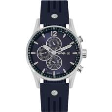 Lee cooper Dual Time Blue Rubber strap LC06419.339