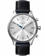 Kronaby Sweden connected Black leather strap A1000-0657