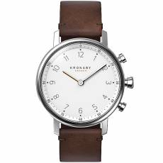 Kronaby Sweden connected Nord Brown leather strap A1000-0711
