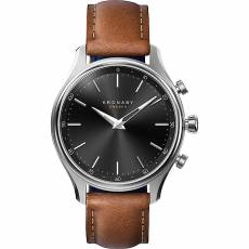 Kronaby Sweden connected Sekel Brown leather strap A1000-2749
