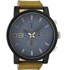 OOZOO Τimepieces XXL Brown Leather Strap C9030