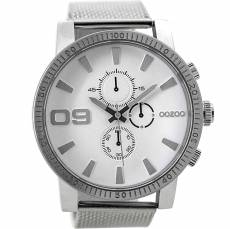 OOZOO Timepieces XXL Silver Metal Strap C9435