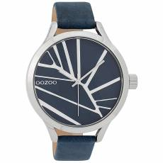 OOZOO Blue Leather strap XLSilver C9681