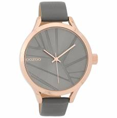 OOZOO Gray Leather strap XL Rose gold C9683