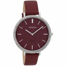 OOZOO Vintage Crystals Bordeaux Leather Strap C9802