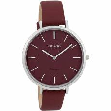 OOZOO Timepieces Bordeaux Leather strap C9807