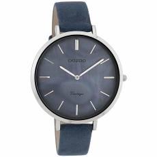 Ρολόι γυναικείο OOZOO BlueLeather strap C9808 4b548b8c596