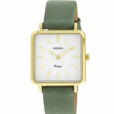 OOZOO Vintage Green Leather strap C9943