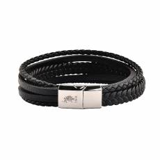 US POLO Bracelet Black Leather JW9069BR