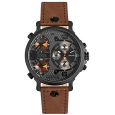 Lee cooper men's Brown leather strap LC06367.655