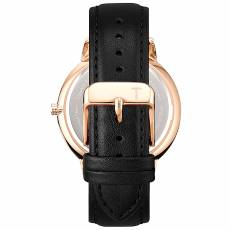 Ρολόι Tylor Rose Gold Black Leather TLAD009
