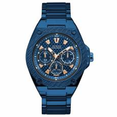 Ανδρικό ρολόι Guess Blue Stainless Steel Multifunction W1305G4