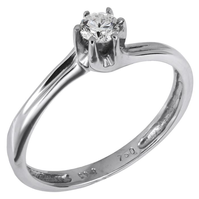Λευκόχρυσο δαχτυλίδι 18Κ με μπριγιάν 002271 002271 Χρυσός 18 Καράτια