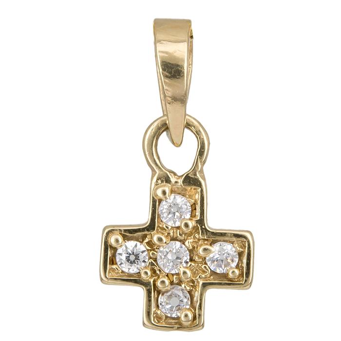 ΧΡΥΣΟ ΓΥΝΑΙΚΕΙΟ ΣΤΑΥΡΟΥΔΑΚΙ 010957 010957 Χρυσός 14 Καράτια χρυσά κοσμήματα σταυροί
