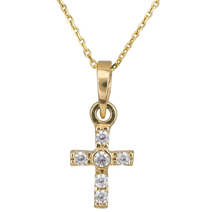 Χρυσό σταυρουδάκι Κ14 010961C Χρυσός 14 Καράτια