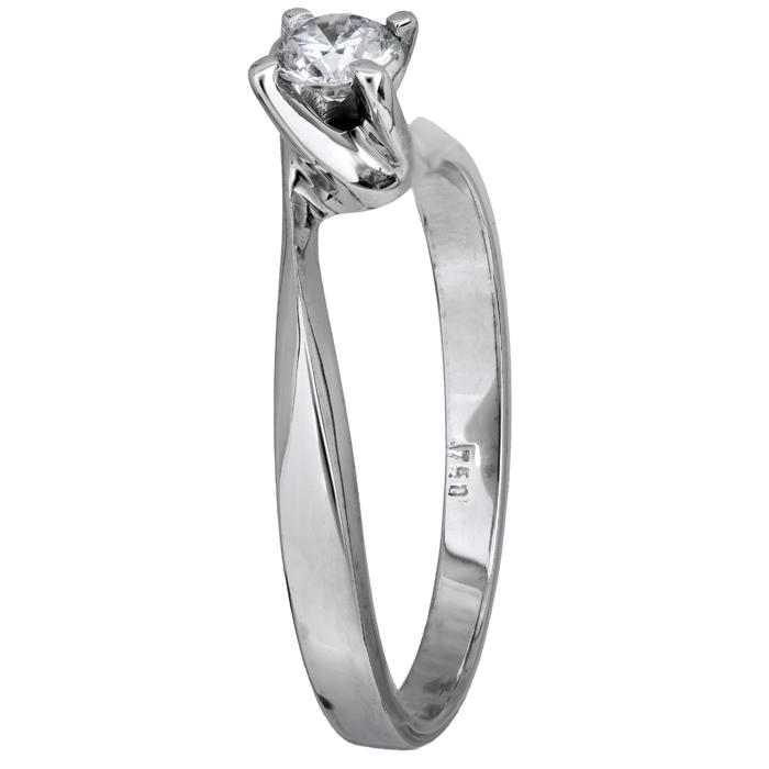Δαχτυλίδι με μπριγιάν λευκόχρυσο 18Κ 011567 Χρυσός 18 Καράτια