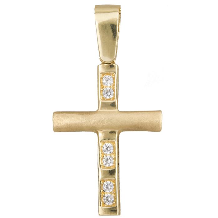Χρυσός σταυρός Κ14 012302 012302 Χρυσός 14 Καράτια χρυσά κοσμήματα σταυροί