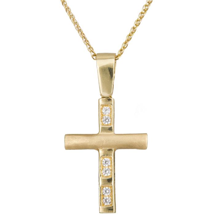 ΧΡΥΣΟ ΣΤΑΥΡΟΥΔΑΚΙ c012302 012302C Χρυσός 14 Καράτια