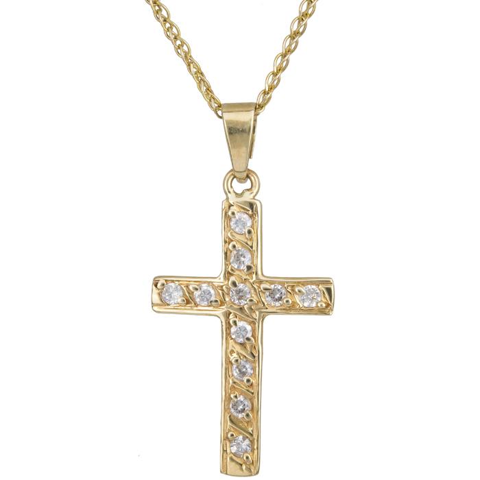 Χρυσό γυναικείο σταυρουδάκι Κ14 C012323 012323C Χρυσός 14 Καράτια