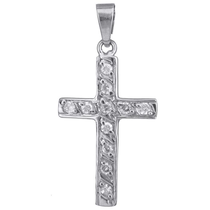 Λευκόχρυσος σταυρός 14 Κ 012324 012324 Χρυσός 14 Καράτια