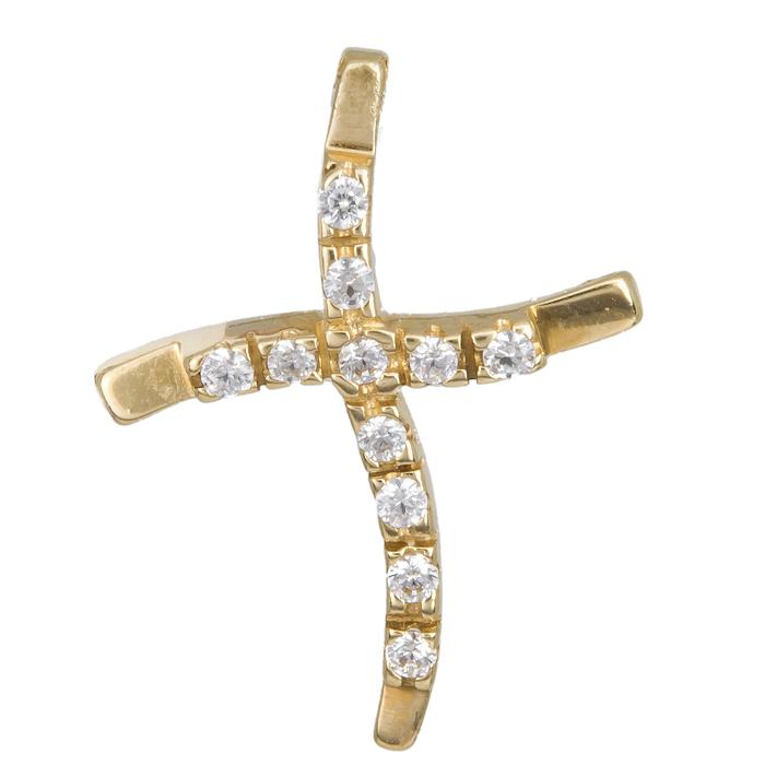 ΓΥΝΑΙΚΕΙΟΣ ΣΤΑΥΡΟΣ 012934 012934 Χρυσός 14 Καράτια χρυσά κοσμήματα σταυροί