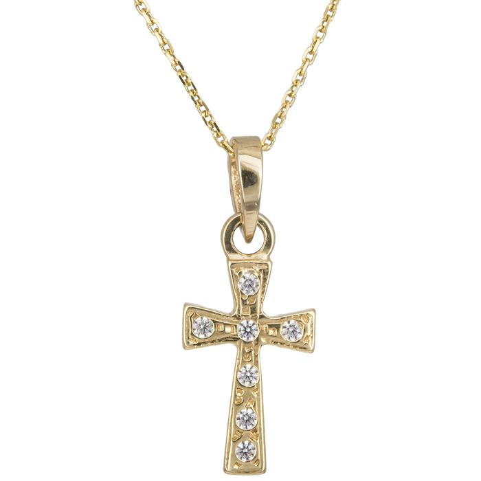 Χρυσό σταυρουδάκι Κ14 C012942 012942C Χρυσός 14 Καράτια