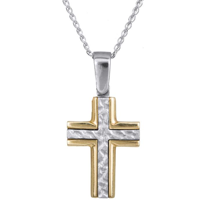 Ανδρικός σταυρός C013220 013220C Χρυσός 14 Καράτια χρυσά κοσμήματα σταυροί