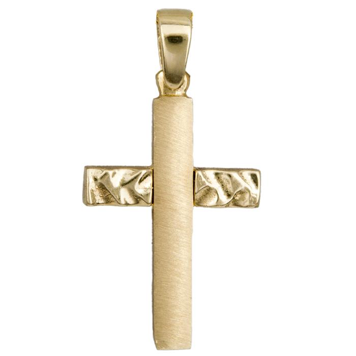 Χρυσός Σταυρος 015330 Χρυσός 14 Καράτια χρυσά κοσμήματα σταυροί