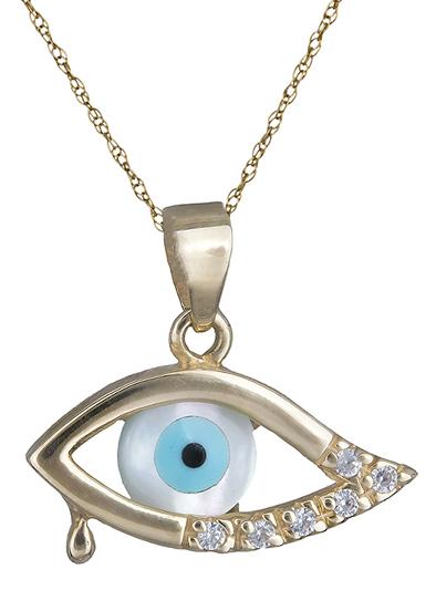 Χρυσό κολιέ Κ14 με μάτι 000160 000160 Χρυσός 14 Καράτια