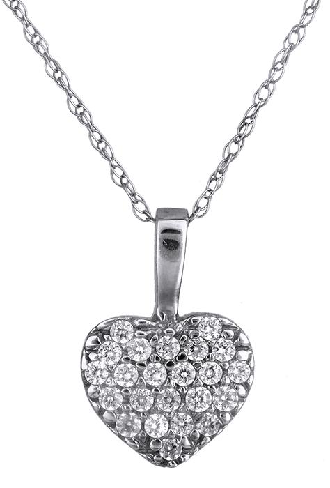 Λευκόχρυση Καρδιά κολιέ Κ14 000169 000169 Χρυσός 14 Καράτια χρυσά κοσμήματα καρδιές