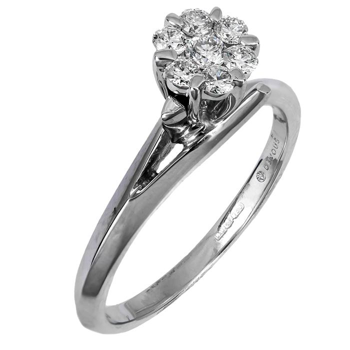 Μονόπετρο δαχτυλίδι με διαμάντια 017725 017725 Χρυσός 18 Καράτια χρυσά κοσμήματα δαχτυλίδια μονόπετρα