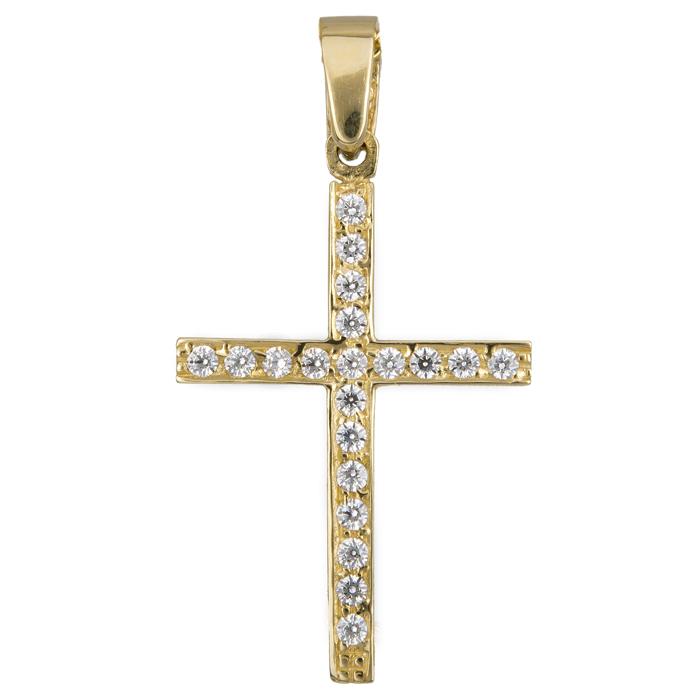 Χρυσός γυναικείος σταυρός 017778 017778 Χρυσός 14 Καράτια